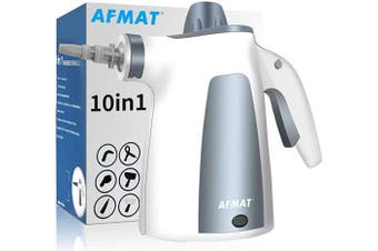 Handheld Steam Cleaner,Handheld Pressurised Steam Cleaner 10 in 1 Set Multi-Function Multi-Purpose, Suitable for Home, Sofa, Bathroom, Car seat, Office, Bedroom Cleaning.(Grey)