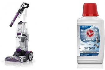 (Machine + Stain Remover Refill) - Hoover SmartWash Pet Automatic Carpet Cleaner with Spot Chaser Refill Pretreat Solution for Stain Remover Wand