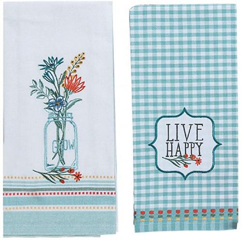 Kay Dee Designs Bee Inspired Queen Bee Dual Purpose Terry Towel /& Bee Inspired Tea /& Honey Tea Towel Kitchen Dishtowel Set for Cooking Drying and Baking Cleaning