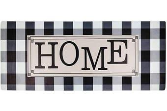 (Checked Home) - HEBE Oversized Cushioned Anti Fatigue Kitchen Runner Mat 50cm x 140cm x 1/5.1cm Waterproof Non Slip Kitchen Floor Mat PVC Foam Kitchen Rug Heavy Duty Comfort Standing Mat