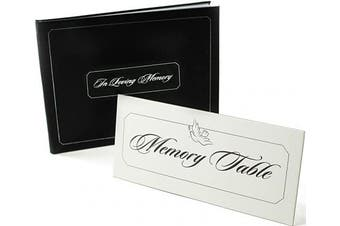 Funeral Guest Book | In Loving Memory | Celebration of Life Sign In Book | Bonus - White Memory Table Sign Included