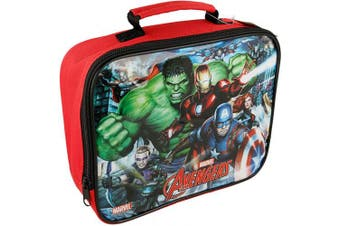 Boyz Toys ST457 Insulated Lunch Bag-Avengers, Red, 26 x 21 x 7 cm
