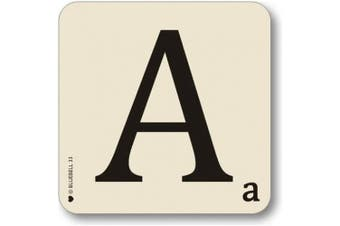 (A) - Bluebell Alphabet Coasters - Personalise Table Family Names Words (A)