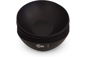 (Set of 6, Black) - COZA DESIGN 6-Piece Bowl Set, 500ml (Black)