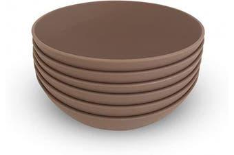 (Set of 6, Gray) - COZA DESIGN 6-Piece Bowl Set, 500ml (Grey)