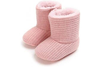 (12-18 Months, Pink 2) - MK MATT KEELY Baby Boys Girls Soft Sole Snow Boots Winter Warm Shoes Booties