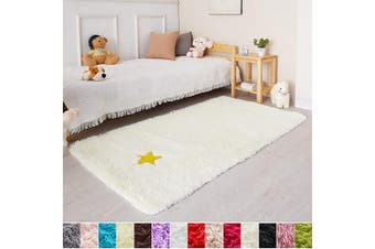 (0.9m x 1.5m, Ivory) - Ivory Soft Rug for Bedroom,0.9mX1.5m,Fluffy Area Rug for Living Room,Furry Carpet for Kids Room,Shaggy Throw Rug for Nursery Room,Fuzzy Plush Rug,Ivory Carpet,Rectangle,Cute Room Decor for Baby