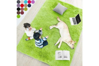 (1.5m x 2.1m, Lime Green) - Lime Green Soft Rug for Bedroom,1.5mX2.1m,Fluffy Area Rug for Living Room,Furry Carpet for Kids Room,Shaggy Throw Rug for Nursery Room,Fuzzy Plush Rug,Green Carpet,Rectangle,Cute Room Decor for Baby