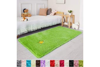 (0.9m x 1.5m, Lime Green) - Lime Green Soft Rug for Bedroom,0.9mX1.5m,Fluffy Area Rug for Living Room,Furry Carpet for Kids Room,Shaggy Throw Rug for Nursery Room,Fuzzy Plush Rug,Green Carpet,Rectangle,Cute Room Decor for Baby