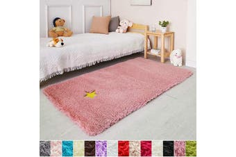 (0.9m x 1.5m, Blush) - Blush Soft Rug for Girls Bedroom,Fluffy Area Rug 0.9mX1.5m for Living Room,Furry Carpet for Kids Room,Shaggy Throw Rug for Nursery Room,Fuzzy Plush Rug for Dorm,Pink Carpet,Cute Room Decor for Baby