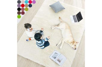 (0.6m x 0.9m, Ivory) - Ivory Soft Rug for Bedroom,0.6mX0.9m,Fluffy Area Rug for Living Room,Furry Carpet for Kids Room,Shaggy Door Mat for Entryway,Fuzzy Plush Rug,Ivory Carpet,Rectangle,Cute Room Decor for Baby