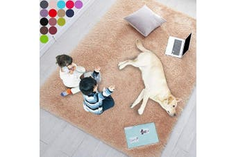 (1.5m x 2.1m, Beige) - Beige Rug for Bedroom,1.5mX2.1m,Fluffy Area Rug for Living Room,Furry Carpet for Kids Room,Shaggy Throw Rug for Nursery Room,Fuzzy Plush Rug,Brown Carpet,Rectangle,Cute Room Decor for Baby