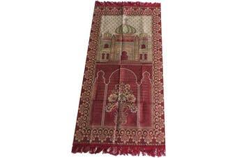 (Red_03) - HDI Muslim Prayer Mat Lightweight Thin Istanbul Turkey Sajadah Carpet Islam Eid Ramadan Gift (Red_03)