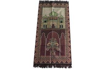 (Brown_03) - HDI Muslim Prayer Mat Lightweight Thin Istanbul Turkey Sajadah Carpet Islam Eid Ramadan Gift (Brown_03)
