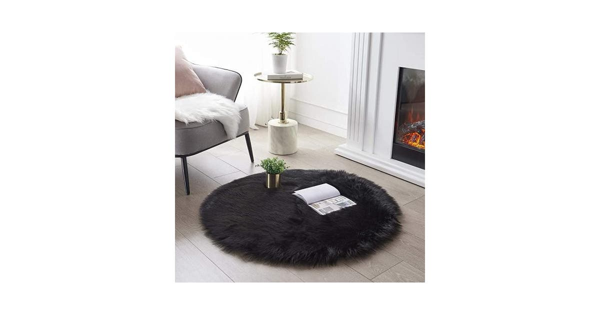 Shaggy Rug Round Fluffy Area Rugs Plush