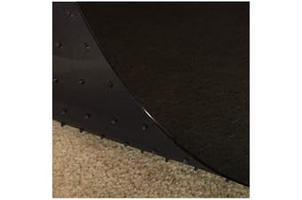 (70cm  x 1.8m, Black) - Resilia - Deluxe Black Vinyl, Plastic Floor Runner/Protector for Deep Pile Carpet - Non-Skid, Textured Pattern, (70cm Wide x 1.8m Long)