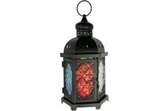 (Lg Hexagon) - allgala Glass Moroccan Candle Lantern