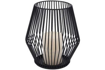 (Small) - Black Metal Wire Tea Light Candle Holder for Indoor Outdoor,Events,Parties and Wedding Decorations (Small)