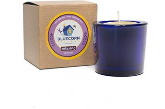 (1, Relaxing) - Bluecorn Beeswax Aromatherapy Heavy Glass Votive (Relaxing, 1)