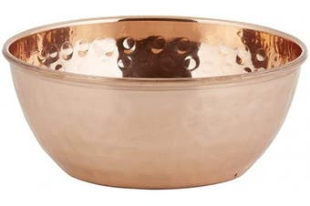(Medium, Copper) - Creative Brands 47th & Main Antique Looking Table Bowl, Medium, Copper