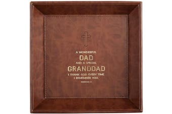 (Dad/Granddad -Philippians 1:3) - CB Gift Heartfelt Collection Just for Him Valet Tray, 22cm x 22cm , Dad/Granddad -Philippians 1:3