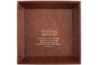 (Faithful Servant -Deuteronomy 15:10) - CB Gift Just for Him Tray Tabletop, Faithful Servant -Deuteronomy 15:10