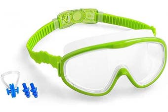 (05.Blue+Pink) - COOLOO Kids Swimming Goggles, Kids Swim Goggles Junior Children Girls Boys Early Teens Age 3-15, with Anti-Fog, Waterproof, Protection Lenses, Crystal Clear Wide Vision
