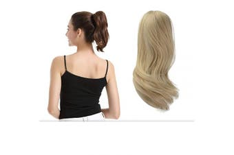 (25cm , 24/613 Light Blonde mix Bleach Blonde Evenly) - BARSDAR 25cm Ponytail Hair Extensions Hair Piece Clip Claw in Ponytail Extensions Short Curly Synthetic for Black Women (24/613 Light Blonde mix Bleach Blonde Evenly)