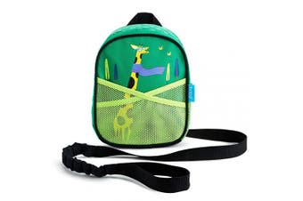 (Giraffe) - Munchkin Brica by-My-Side Baby Safety Harness Backpack, Giraffe, Green