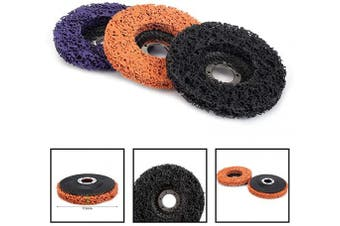 """(Multicolored) - 3Pcs 4-1/2""""x7/8"""" Poly Strip Abrasive Disc Wheel set Clean & Remove Paint,Rust and Oxidation for Angle Grinder 115x22mm"""
