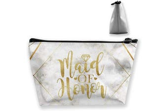 (Maid of Honor) - Travel Cosmetic Bag Marble Maid of Honour Makeup Bag Toiletry Bag Pouch Tote Case Organiser Storage for Women Girls