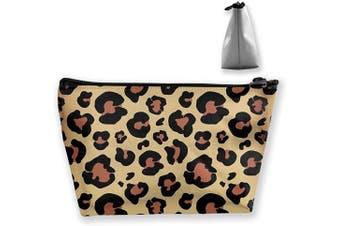(Leopard Skin Animal) - Ahoocustom Leopard Skin Canvas Cosmetic Pen Makeup Bag, Animal Graphic Print Women Pouch Purse Handbag Organiser with Zipper Pencil Case Gift for Girl