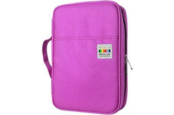 (166 Purple) - YOUSHARES 166 Slots Coloured Pencil Case, 110 Slots Gel Pens fo Colouring Case Organiser, Handy Multilayer Colour Pencil Holder for Glitter Gel Pens, Refills, Coloured Pencils for Adults & Artist (Purple)