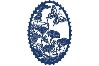 Butterfly Metal Die Cuts,Oval Leaves Flower Border Cutting Dies Cut Stencils for DIY Scrapbooking Photo Decorative Embossing Paper Dies for Scrapbooking Card Making