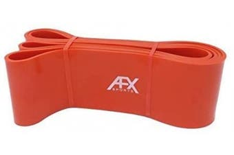 (ORANGE) - AFX Sports Resistance Bands - Pull Up Bands - Exercise Bands for CrossFit - Powerlifting - Assisted Pull Ups - Mobility Bands (One Band) for Men and Women - Choice of 6