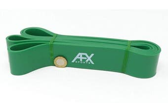 (GREEN) - AFX Sports Resistance Bands - Pull Up Bands - Exercise Bands for CrossFit - Powerlifting - Assisted Pull Ups - Mobility Bands (One Band) for Men and Women - Choice of 6
