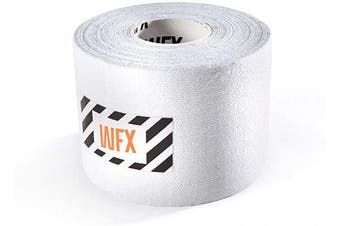 (10cm - width (1x roll), 1x White) - #DoYourFitness® x World Fitness WFX 1x Kinesiology Tape [5m x 5cm LxW] - Waterproof Muscle Support, Physio Therapeutic Aid, Made of 100% Cotton - Skin-Friendly - in Different Sizes and Colours