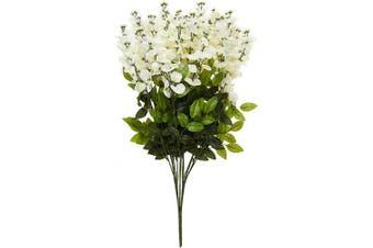 (Cream) - Admired by Nature GPB392-CREAM Artificial Wisteria Hanging Flowers Bush, Cream, 15 Stem, C.Cream-392