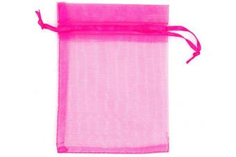 (Hot Pink) - ATCG 50pcs 20cm x 30cm Large Drawstring Organza Bags Decoration Festival Wedding Party Favour Gift Candy Toys Makeup Pouches (Hot Pink)