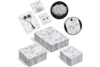 Jewellery Display Cards with Secure Back, Marble Design (3 Sizes, 810 Pieces)