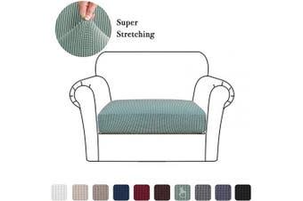 (Small, Sage) - High Stretch Seat Cushion Cover Sofa Cushion Furniture Protector fot Sofa Seat Sofa Slipcover Sofa Cover Soft Flexibility with Elastic Bottom (1 Piece Cushion Covers, Sage)