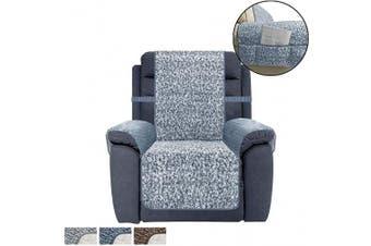 (SEAT WIDTH-60cm , Navy Blue) - Ameritex Recliner Chair Cover Sherpa Non-Slip Sofa Slipcover … (SEAT WIDTH-60cm , Navy Blue)