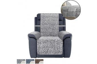 (SEAT WIDTH-80cm , Grey) - Ameritex Recliner Chair Cover Sherpa Non-Slip Sofa Slipcover … (SEAT WIDTH-80cm , Grey)