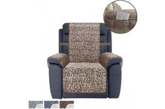 (SEAT WIDTH-60cm , Chocolate) - Ameritex Recliner Chair Cover Sherpa Non-Slip Sofa Slipcover … (SEAT WIDTH-60cm , Chocolate)