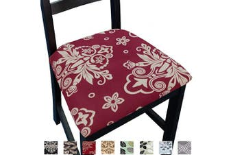 (4, Red) - NORTHERN BROTHERS Chair Seat Covers for Dining Room Chair Covers Printed Dining Chair Seat Covers Set of 4,Red