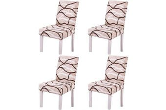(Style 5) - Ogrmar 4PCS Stretch Removable Washable Dining Room Chair Protector Slipcovers/Home Decor Dining Room Seat Cover Multiple Styles (Style 5)