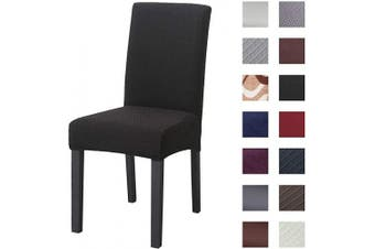 (4pcs, Knit Black) - Kivors Universal Thicken Stretch Chair Slipcovers, Removable Chair Cover Washable Dining Chair Cover Chair Protective Covers for Husse Hotel Party Banquet (Knit Black, 4)