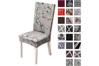 (4pcs, Arabesque) - Kivors Universal Stretch Chair Slipcovers, Removable Chair Cover Washable Dining Chair Cover Chair Protective Covers for Husse Hotel Party Banquet (4pcs, Arabesque)