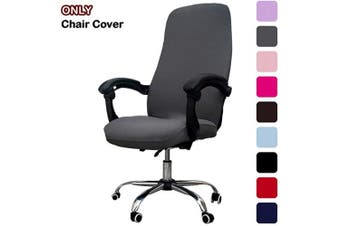 (Dark Gray) - Melaluxe Office Chair Cover - Universal Stretch Desk Chair Cover, Computer Chair Slipcovers (Size: L) - Dark Grey