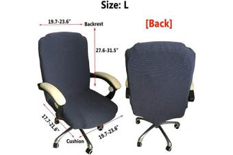 (Black) - Melaluxe Office Chair Cover - Universal Stretch Desk Chair Cover, Computer Chair Slipcovers (Size: L) - Navy